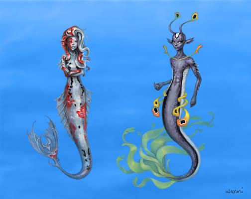 Mermaid Character Designs I