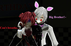 [MMD] Toy Foxy (Mangle)'s Hugs-Foxy by ZexionStrife