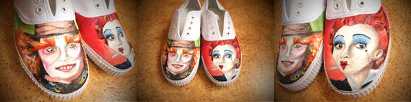 Mad Hatter Shoes so far by StaticSkies