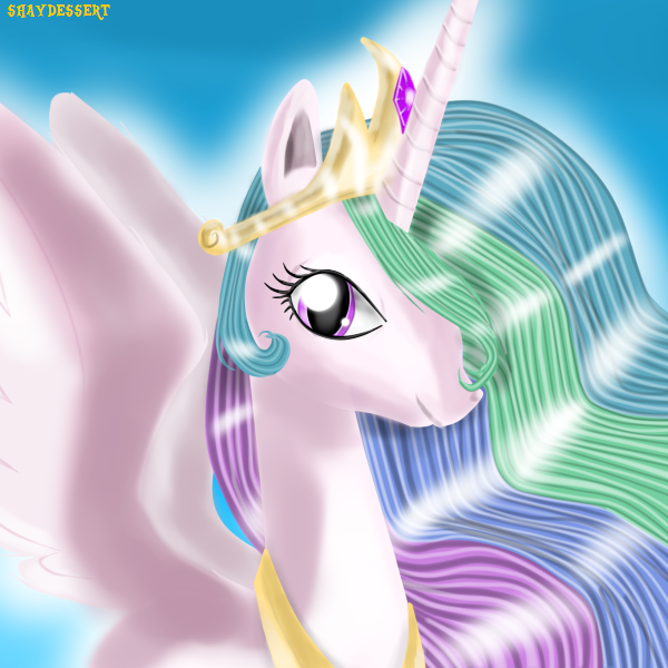 Rainbow-Haired Princess by shaydessert