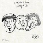 Inktober 2015 Day 13 Three Stooges