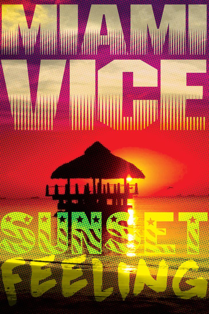 Miami Vice Sunset Feeling - Carte Postale by Kk-Man