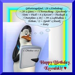Happy Birthday, Kowalski!