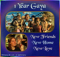 One Year Gaya Anniversary by LeelaComstock
