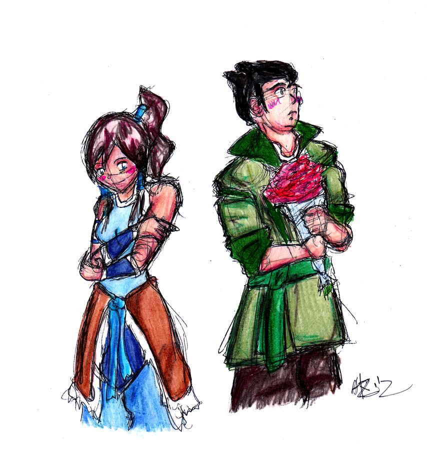 Korra and Bolin by sonicherosfanKorra And Bolin Fan Art