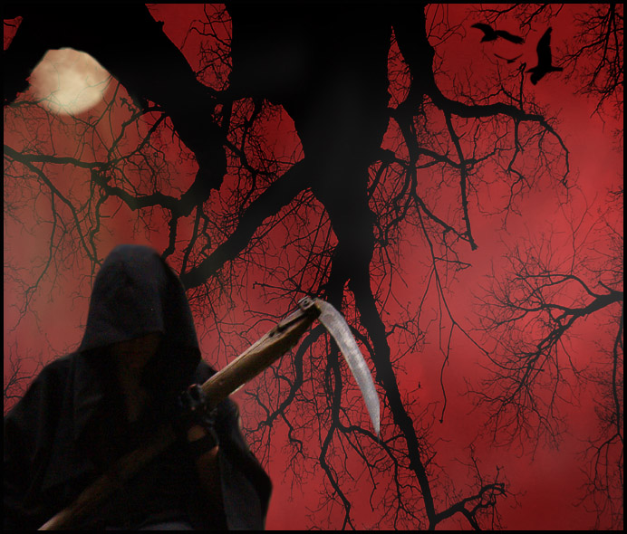 GrimReaper Halloween Wallpaper by Lauraest