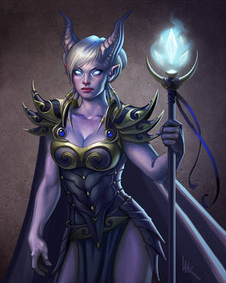 Draenei Mage from WoW by Imagnosis