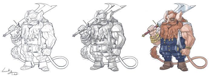 Process - Old dwarf aventurer