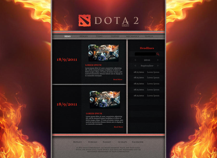 dota 2 website by toshir0 on deviantart