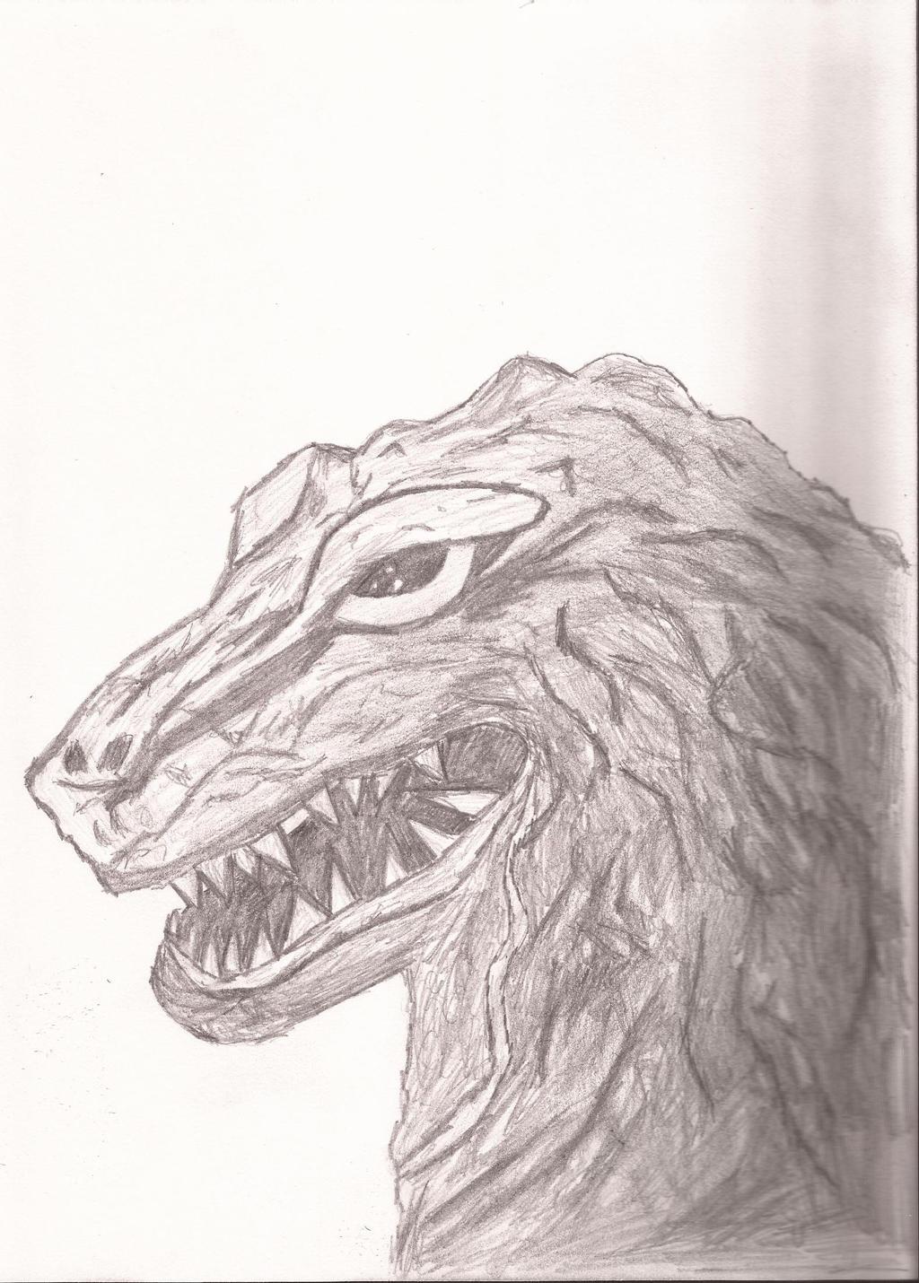 Godzilla 62 pencil sketch kinggoji by nik ainu on deviantart