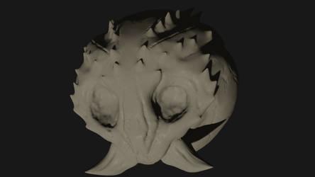 Alien Reptilian Skull