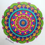 Simple colorful mandala by KristiinaKaunisaho