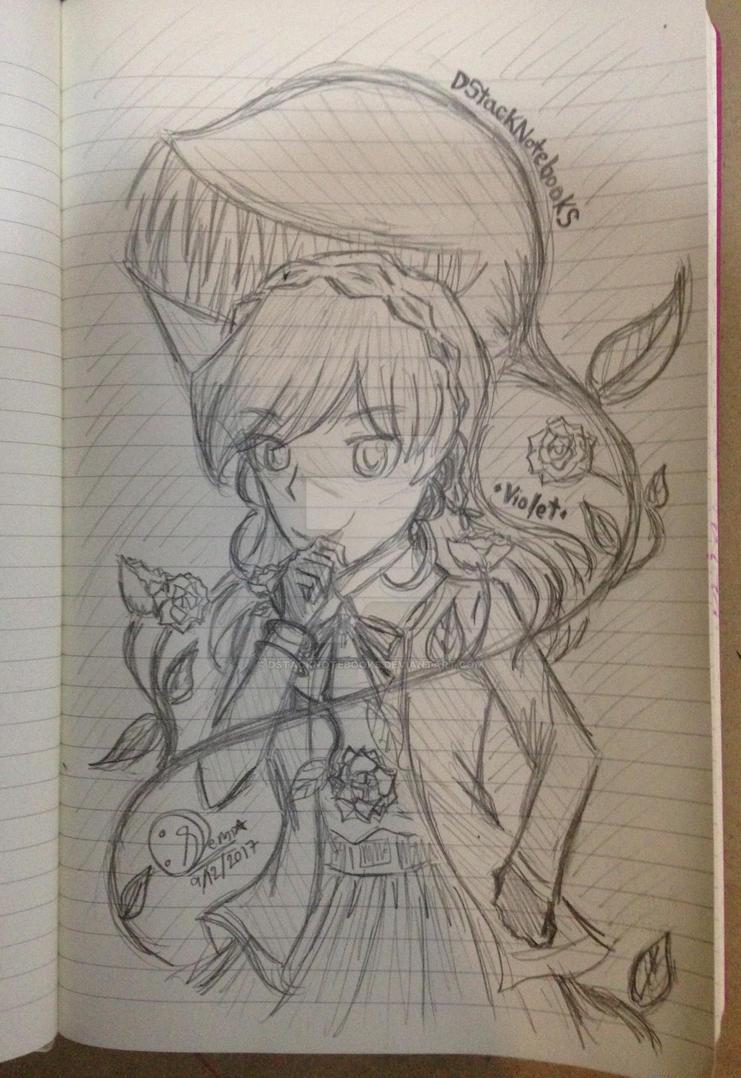 [MyOC]Violet (Sketch) by DStackNotebookS