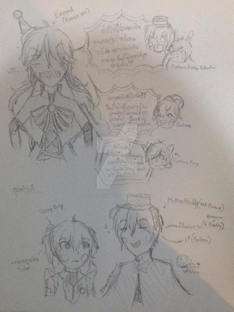 [Fnaf] Ennard-Molten Freddy(???) (Sketch) by DStackNotebookS