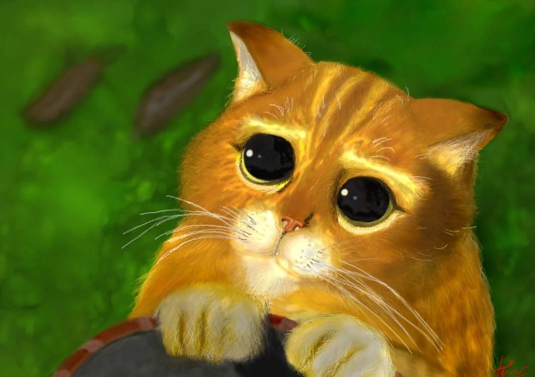 Кот из шрека картинка прикольная