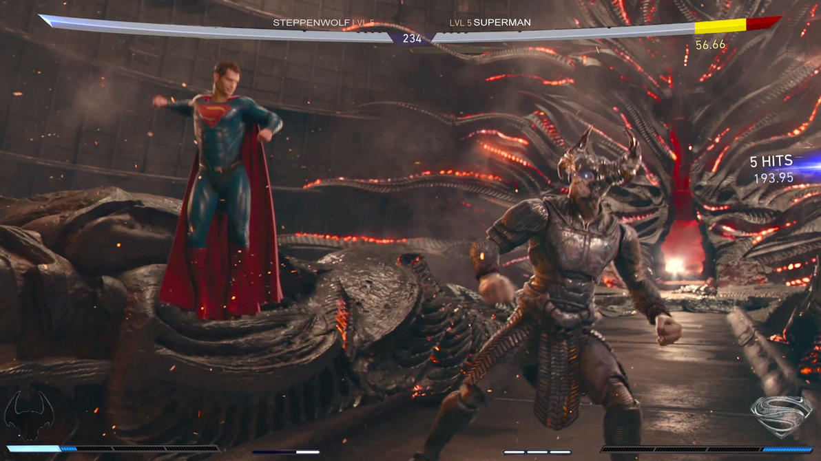 Superman V Steppenwolf photoshop by rocketman28