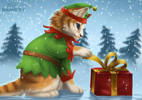 Christmas Elf by ImaginaryRat