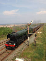 Flying Scotsman at Abergele and Pensarn by DaveOnTheRails