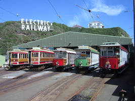 Manx Electric Railway: Derby Castle Car Parade by DaveOnTheRails