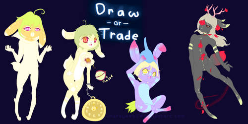 Draw-or-Trade 5 .:Closed!:. by Pietastic-Creations