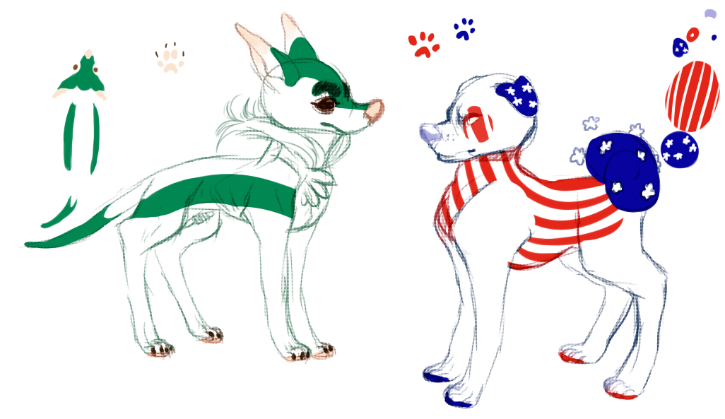 .:Flag Dogs:. by Pieology