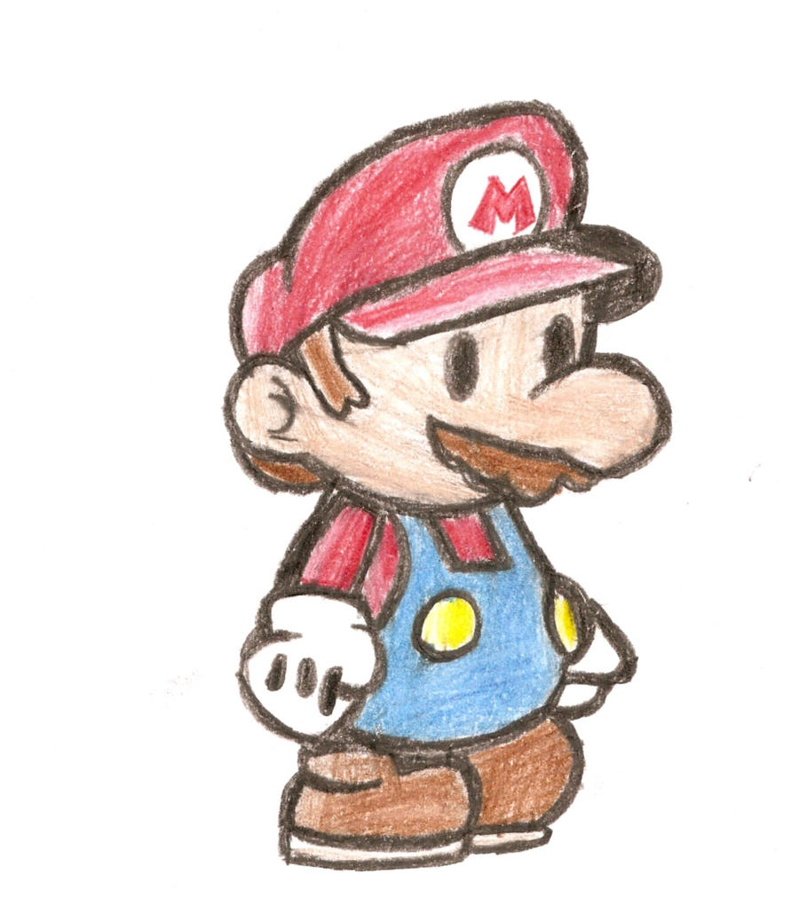 Paper Mario Pencil Drawing By Bltspirit On Deviantart
