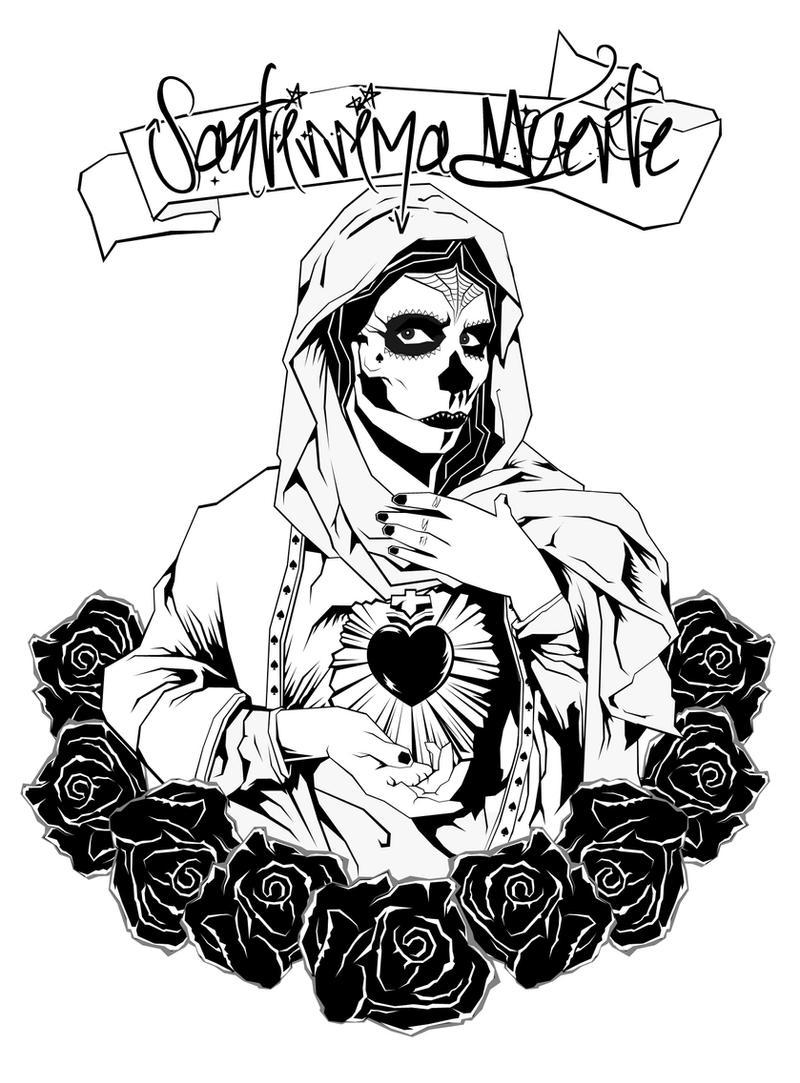 la santa muerte coloring pages - photo #13