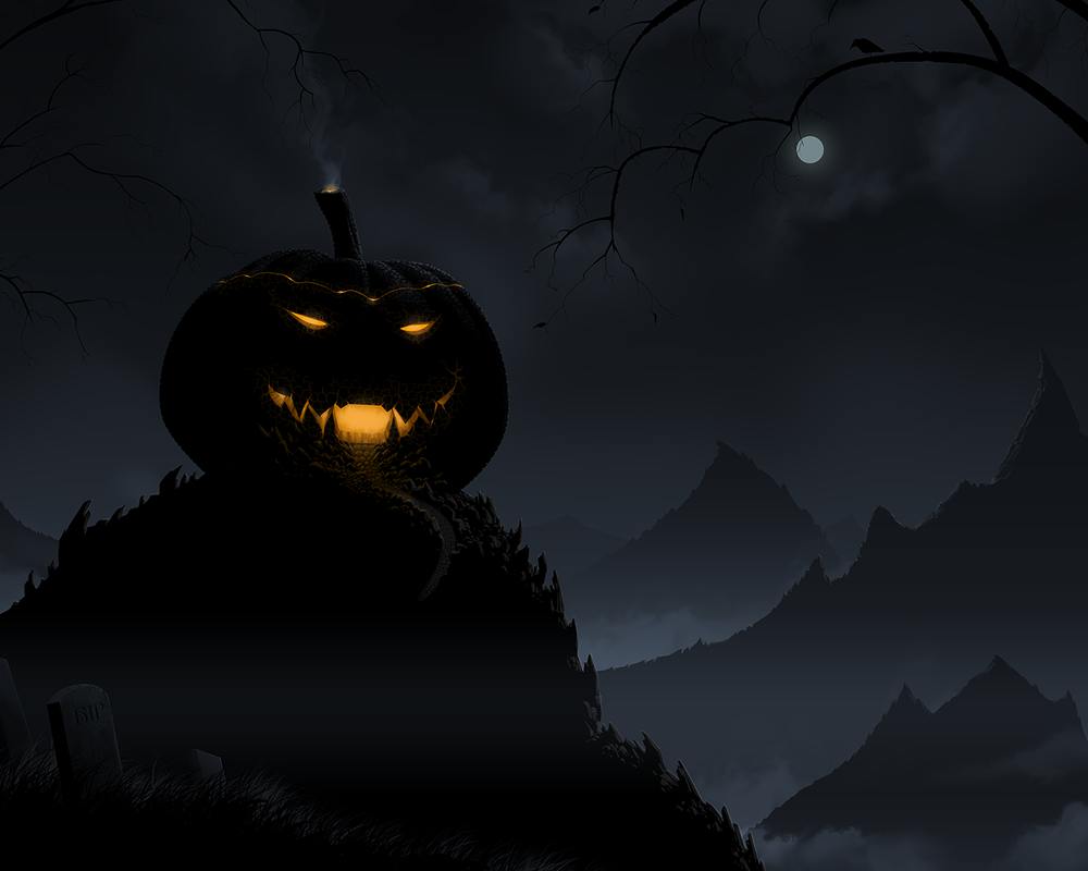 20. Pumpkin Halloween Castle Wallpaper