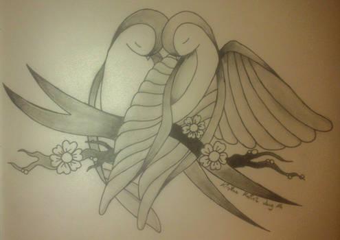 Sweet bird couple