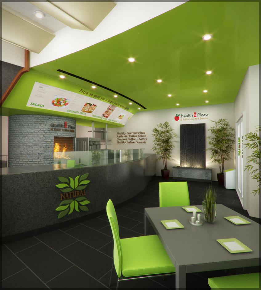 3d Interior Rendering Of Pizza Place By AnonymusDesignStudio ...