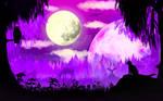 2D Purple Forest