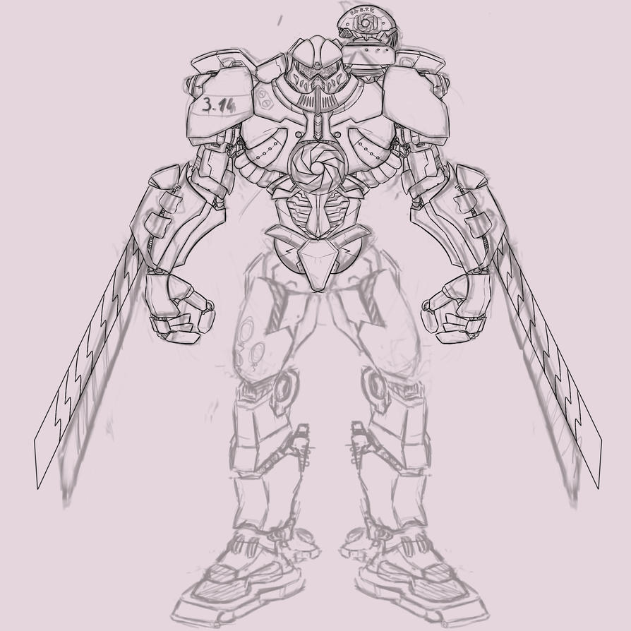 Gipsy Danger Mk. 3.14 WiP by AngelWing314 on DeviantArt