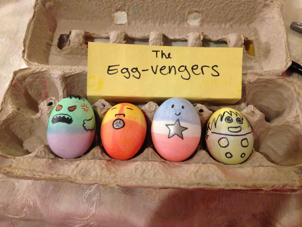 The Eggvengers by StellaStarfish