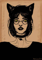 A cat by l-PopCornCat-l