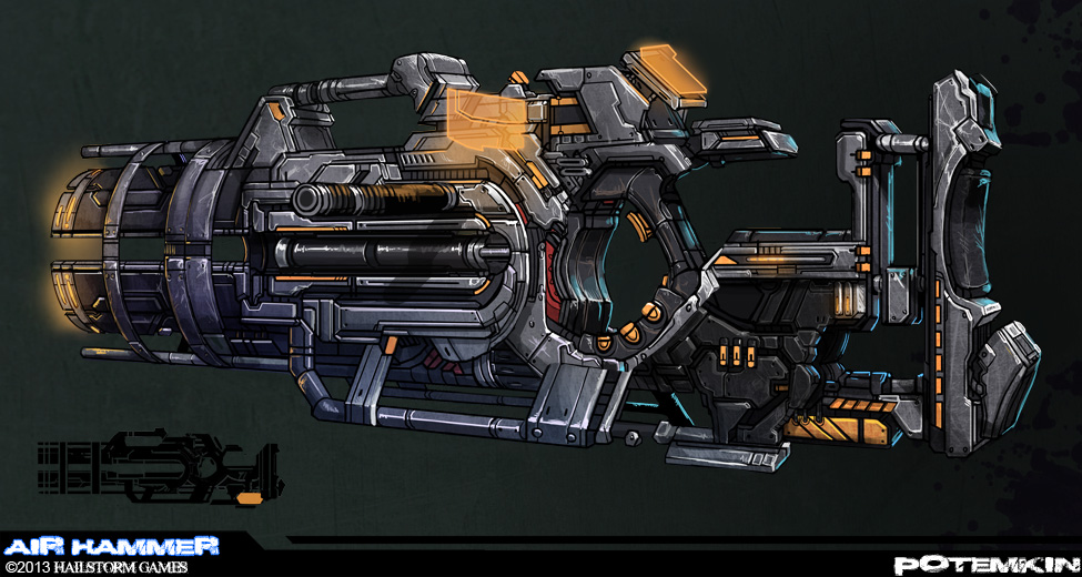 Potemkin: Blaster Weapon by ionen