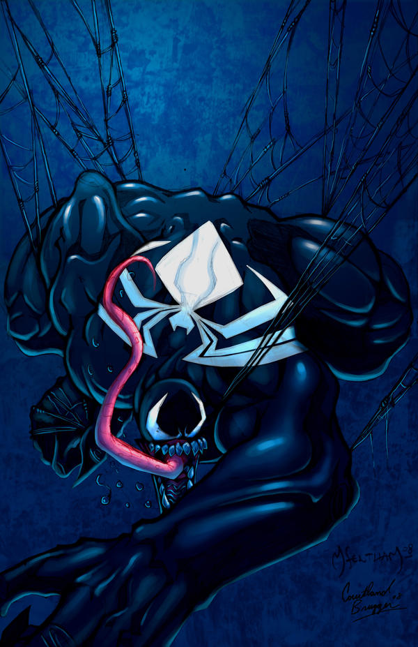 Hanging out with Venom in CLR by scribblesartist