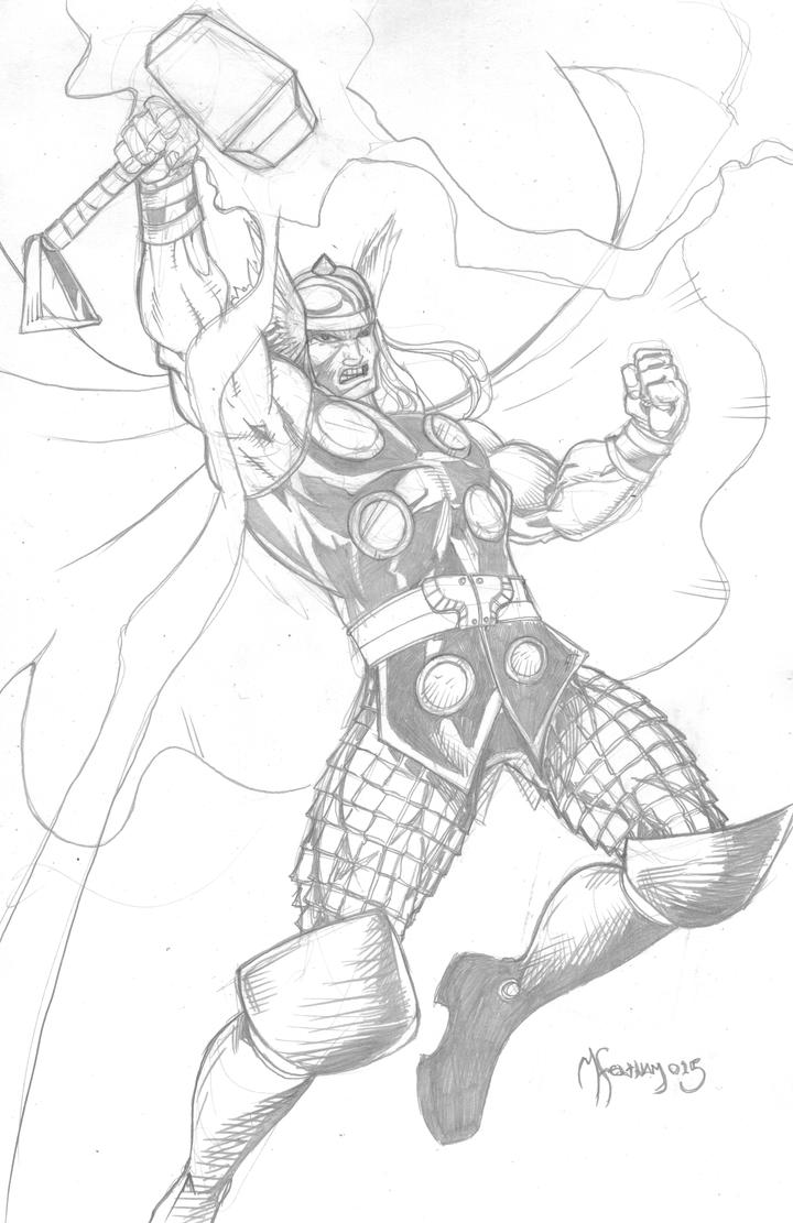 Thunder God Thor by scribblesartist