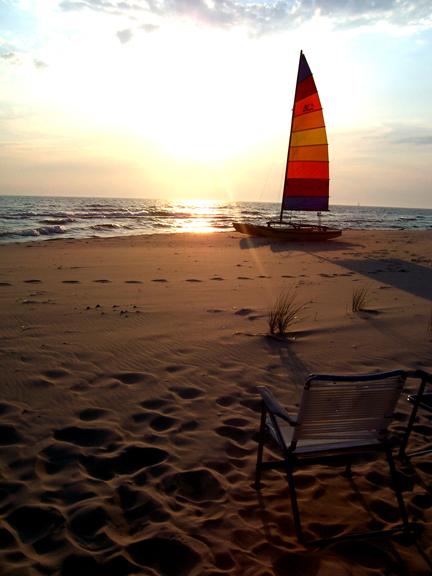 sailboat scene by meganjunemarsac