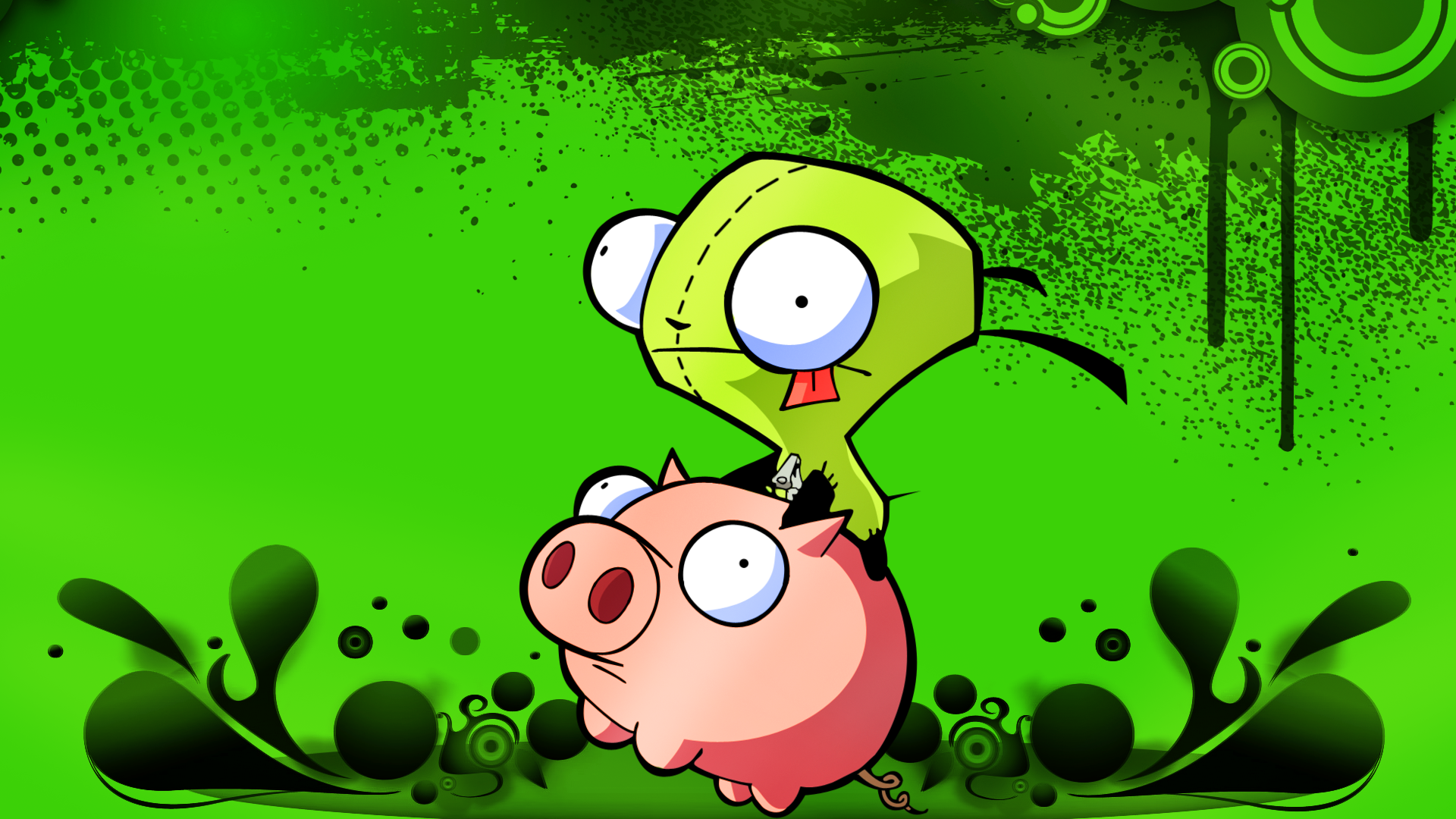 gir and pig by epidemicpandmonia on deviantart