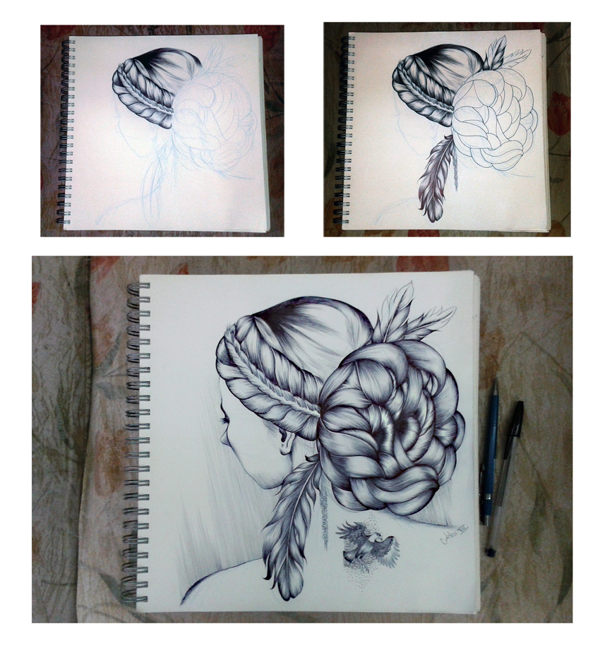 Hair Studies 3 by odilon2012