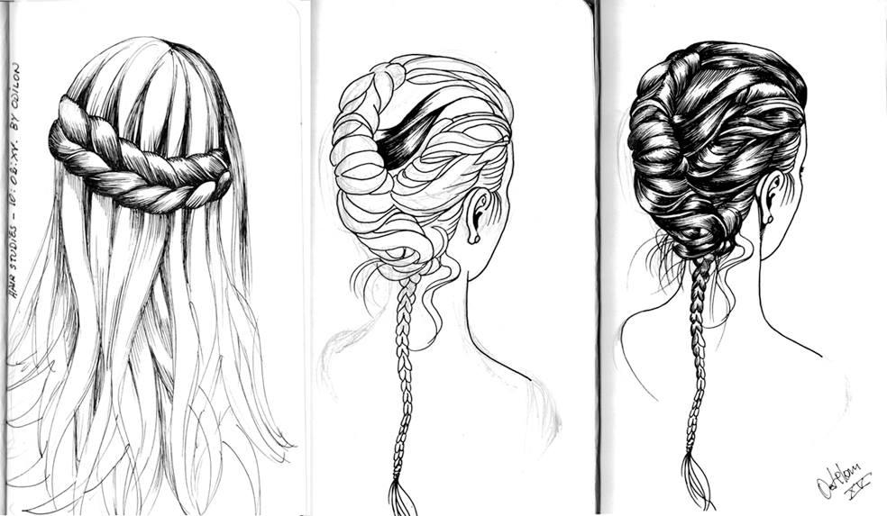 Hair Studies-5 by odilon2012