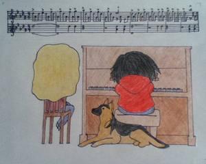 Chibi Me and my Piano Teacher