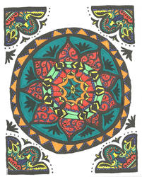 My first adult coloring book page