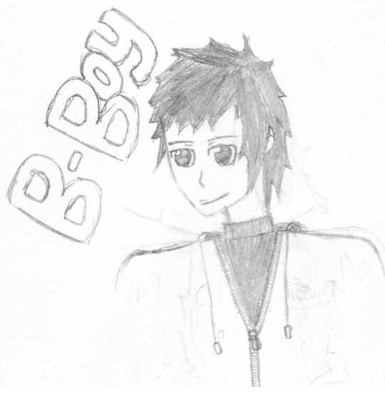 Manga Boy's Face (Side View) Face Sketch B-Boy. Books/Novels