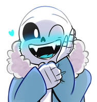 When you compliment Sans too much by Slasharu