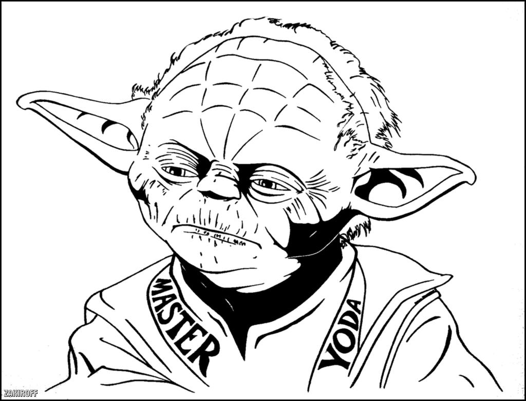 Master yoda by zacharyfeore on deviantart for Yoda coloring pages