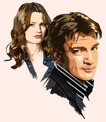 Castle and Beckett by ZacharyFeore