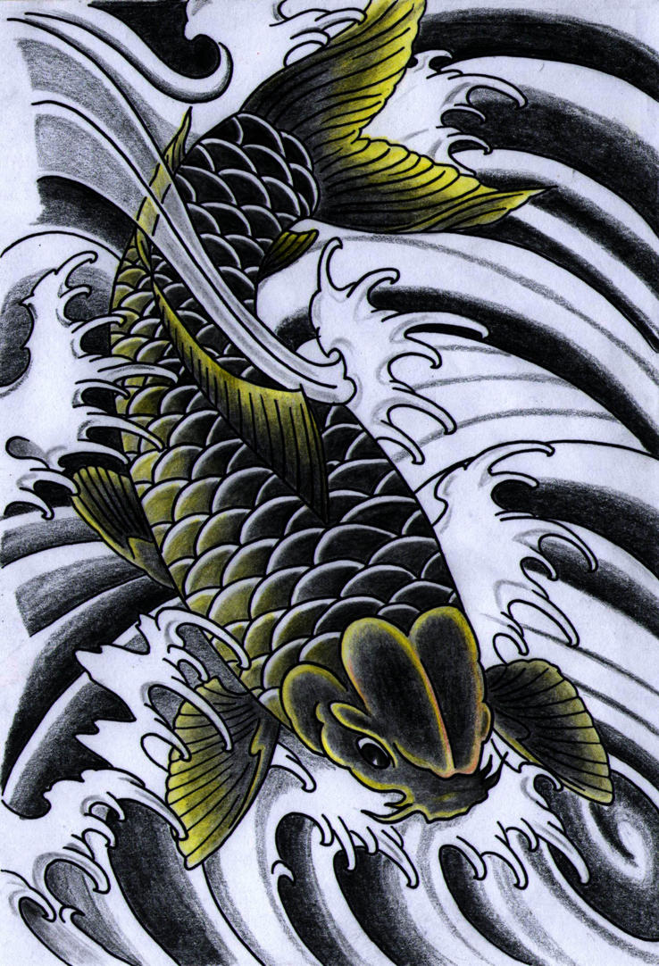 Black koi by iamthesorrow on deviantart for Black dragon koi