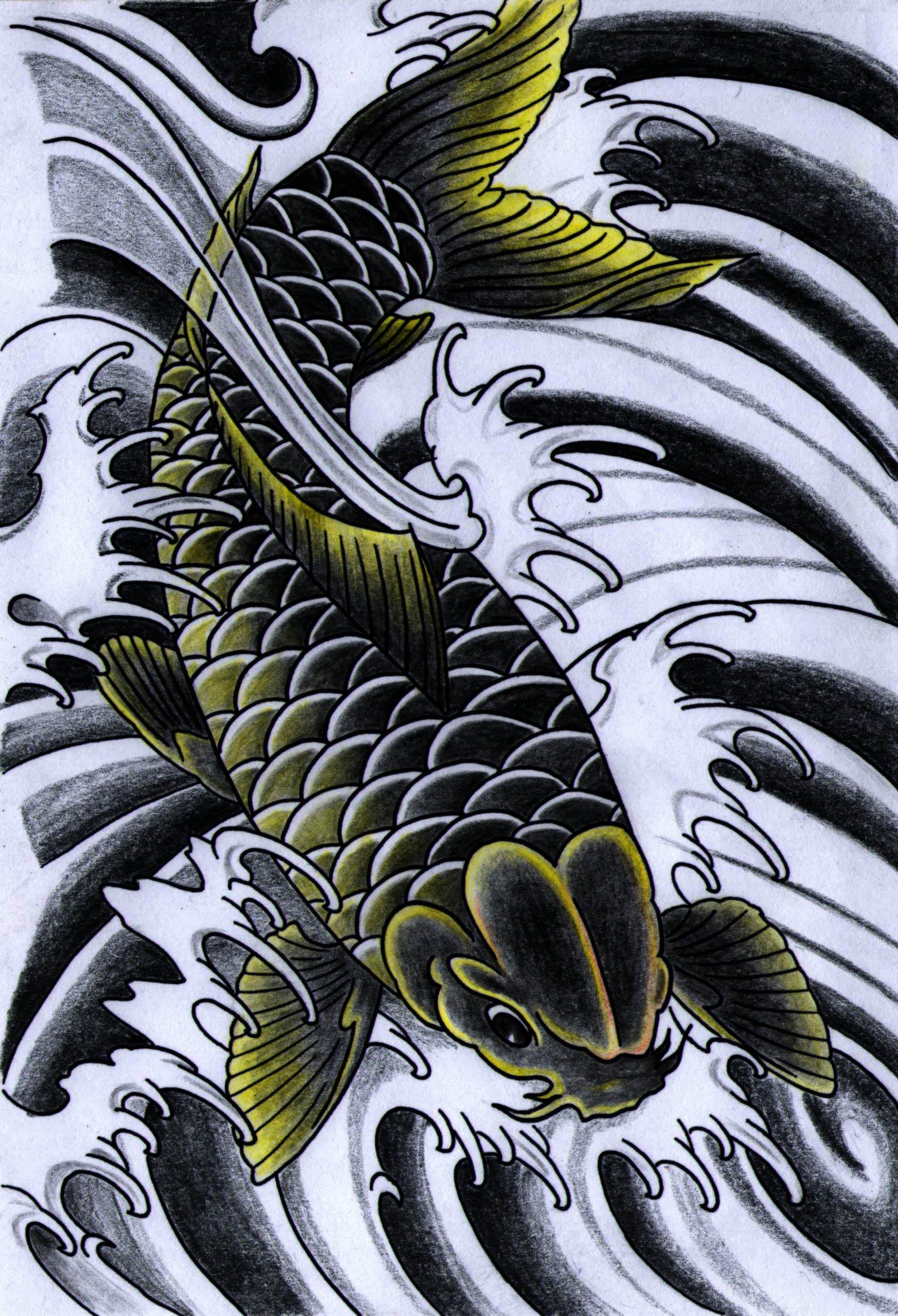 Black koi by iamthesorrow on deviantart for Black koi tattoo