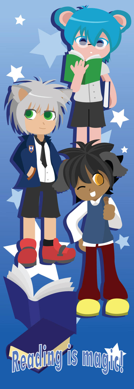 Kawaii Boys Bookmark Commission by Berri-Blossom